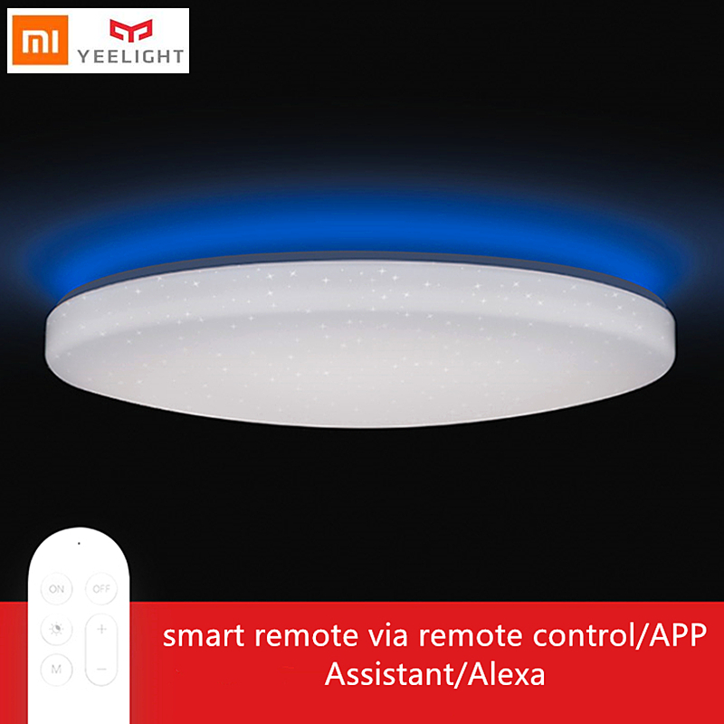 Yeelight DIODO EMISSOR de luz da lâmpada sala de estar teto jiaoyue 650 wi-fi inteligente de Controle Remoto quarto de cama com Assistente de Alexa xiaomi mijia APP