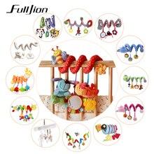 Fulljion детские погремушки, передвижные игрушки, мультяшная коляска, обучающая игрушка, Обучающие погремушки, милый автомобильный висячий колокольчик, прекрасный подарок для новорожденных