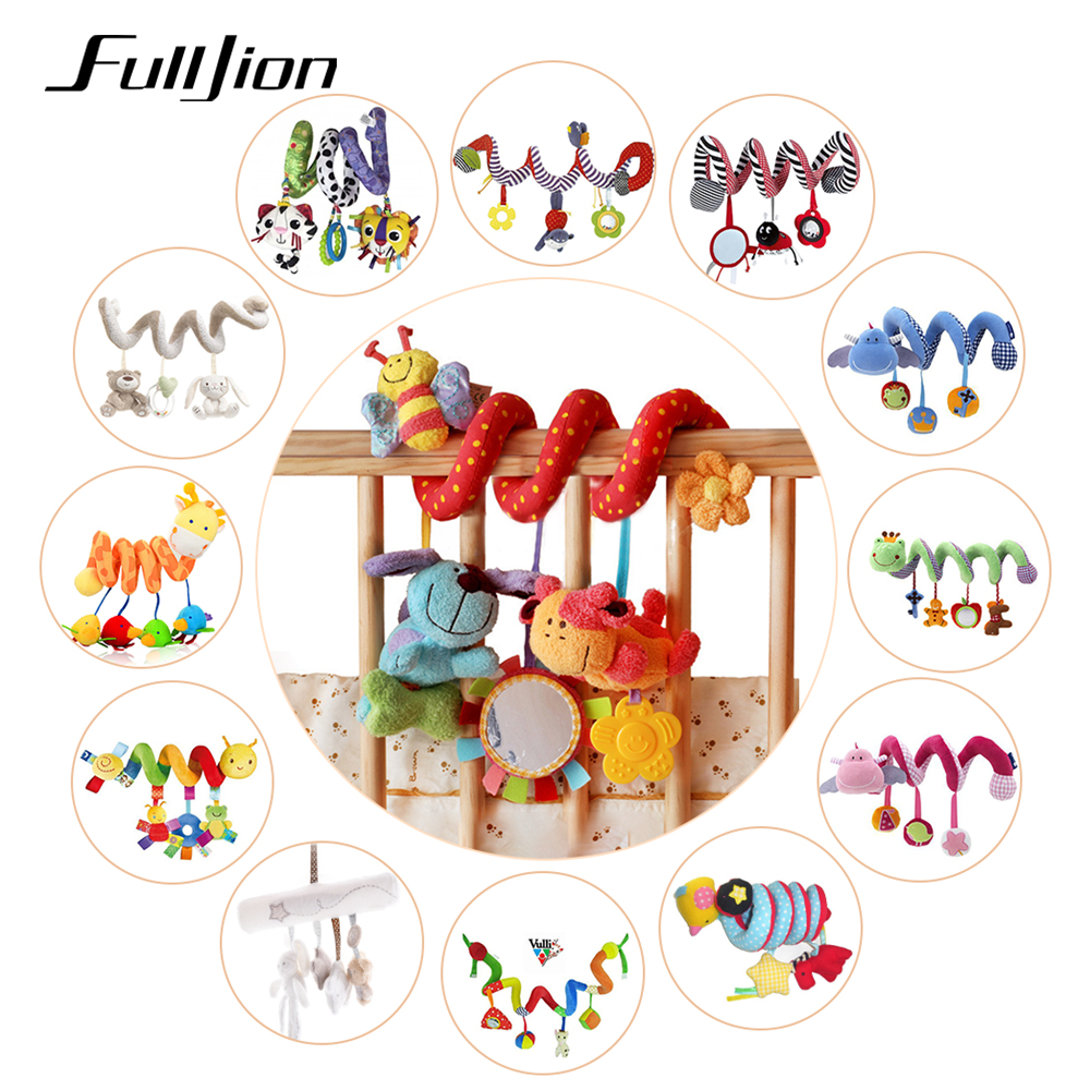 Fulljion Baby Rattle Mobile Toys Cartoon Stroller Toy Learning Education Rattles Baby Cute Car Hanging Bell Lovely Newborn Gift