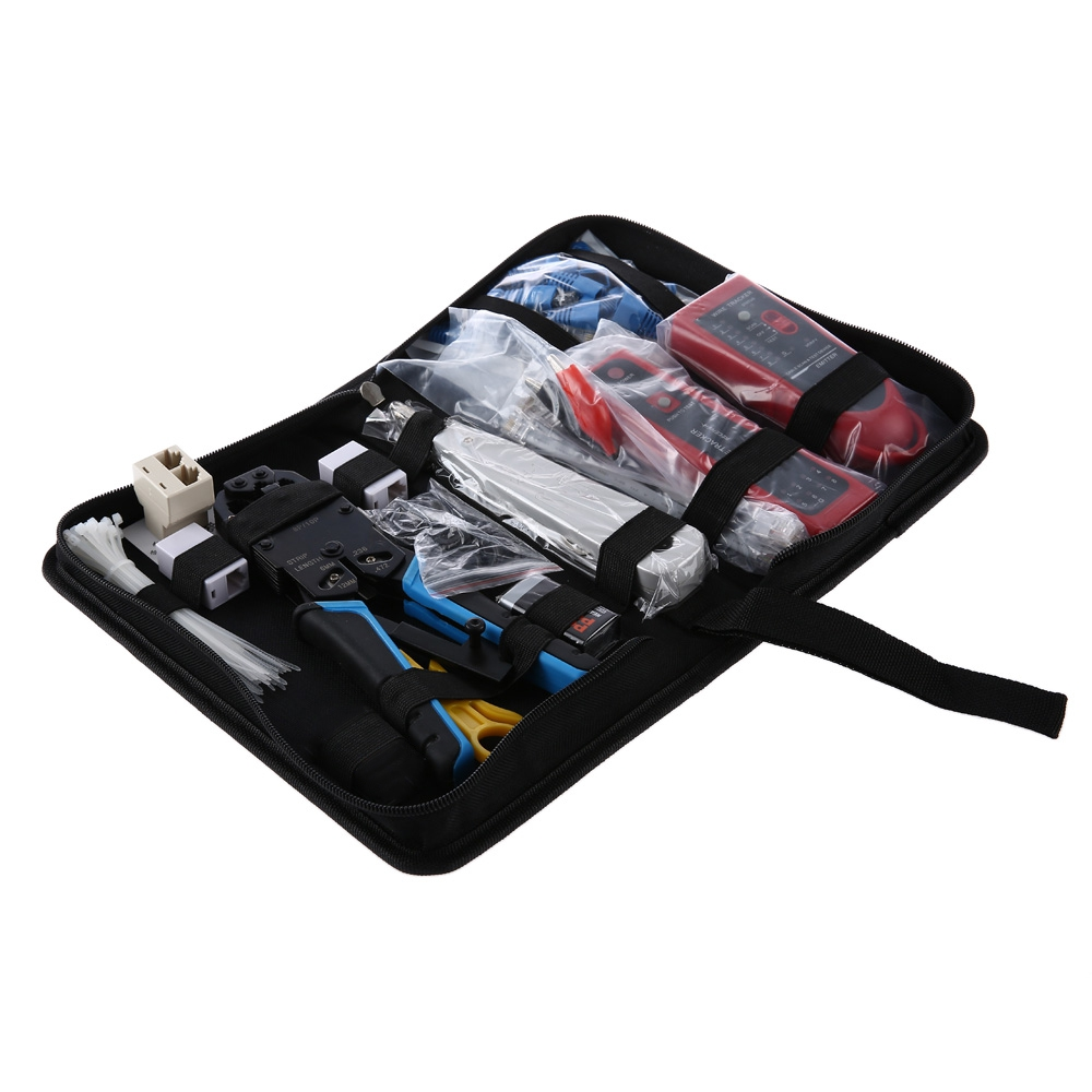 11 in 1 Network Computer Maintenance Tool Kit Cable Tester 200R Network Pliers Wire Tracker Tester for UTP / STP / RJ45 / RJ11 used original 90% adf maintenance kit 525mfp for hp575 725 775 7500 adf maintenance kit