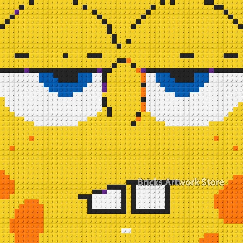 US $30 91 OFF 50 50 Piring Seni Pixel Mosaik Lukisan Set Diy Kartun Tokoh Mickey Mouse Spons Potret Bob Blok Bangunan Mainan Hadiah Kreatif Blok