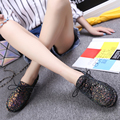 2016 Women's shoes Spring and Autumn European new PU sequins thick soles platform shoes with flat female