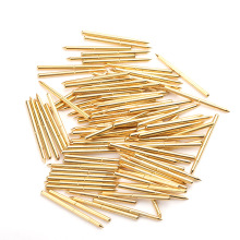 Household Spring Test Probe Durable Metal Brass PA125-B Casing Length 33.35mm 100/PCS