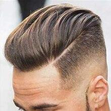 """SimBeauty парик для мужчин для замены волос Мужская Т-система европейские человеческие волосы с 1"""" x 8"""" супер тонким французским кружевом#6 светильник коричневый Col"""