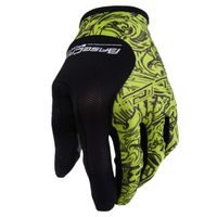 Running Gloves Basecamp Nylon breathable Full Finger Cycling Gloves for Bike(Wandering green M L XL)