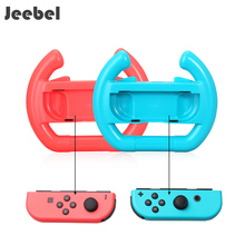 Jeebel 2 pcs Alegria-Con Roda Nintend Acessórios Lidar Com Aperto de Mão NS Interruptor de Direção Interruptor do Controlador De Jogo de Corrida Acessórios