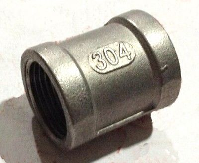 Sanitär 1/4 bsp Buchse Auf Buchse Gewinde Gerade 304 Edelstahl Rohr Fitting Adapter Stecker Betriebsdruck 2,5 Mpa