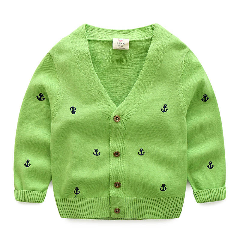 2-10T Spring autumn baby boy cardigan sweater Boys Jackets School Chidlren's Sweater High Quality v-neck casual jackets