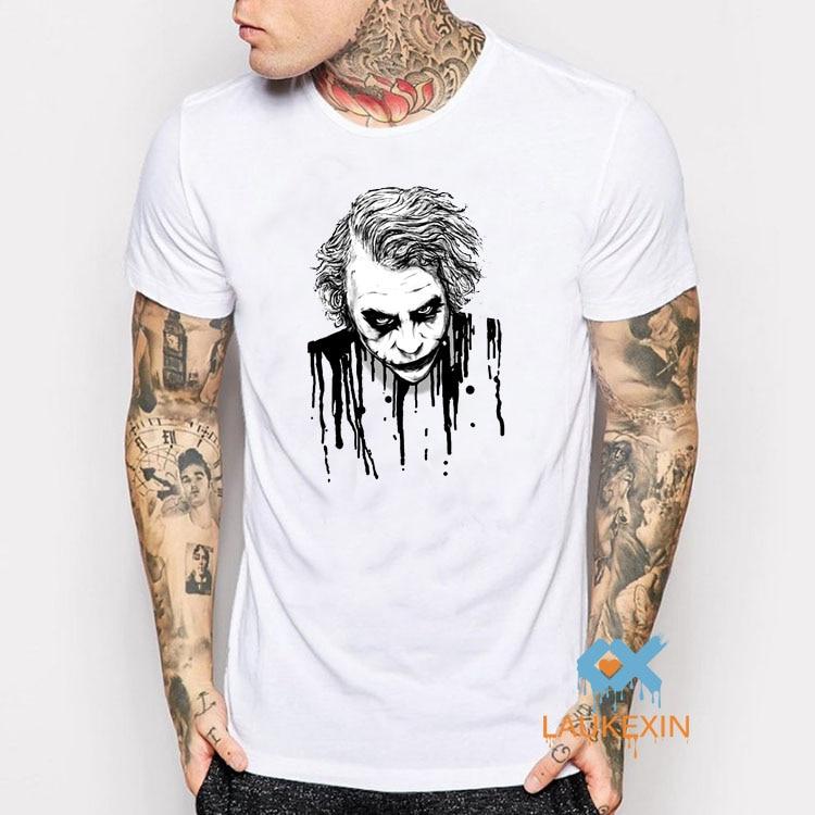 Coringa Batman Engraçado Palhaço Sério Sangue Branco T-Shirt Das Mulheres  Dos Homens Retro Camisa Harajuku Camisas Camiseta Moda Clown Branco T Camisa c06bb0bc58