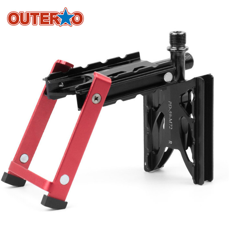 OUTERDO PD-M72 9/16 Folding Mountain Bikes Pedal with Kickstand Superlight Aluminum Alloy Road Bicycles Stand Holder outerdo 100