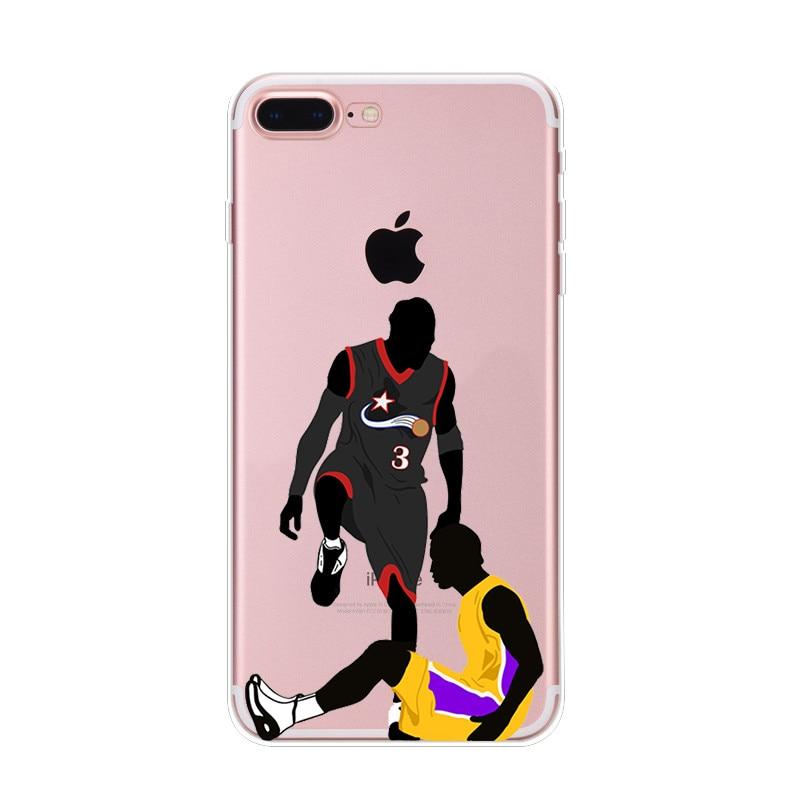 21-NIKIKI-LeBron-James-Kobe-Bryant-di-Pallacanestro-Stella-Del-Silicone-Trasparente-Casse-Del-Telefono-Cover-Per