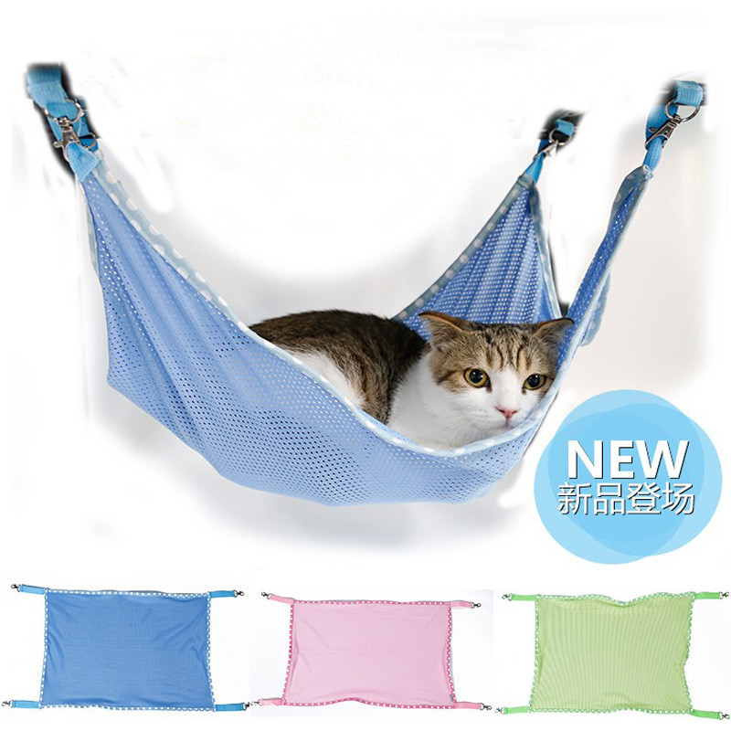 Cat Hammock Under Chair Indoor Hanging Egg With Stand Pet Breathable Mesh Rat Hamster Mice Chinchilla Cage Soft Bed Small Animal Rest House Mat