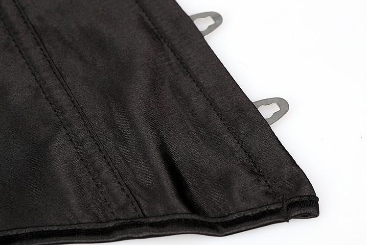 горячаяcorrectorblack зашнуровать атлас стали стоить грудью Tale талии корсет талии подготовки тела опалубки лучших бюстье корсеты