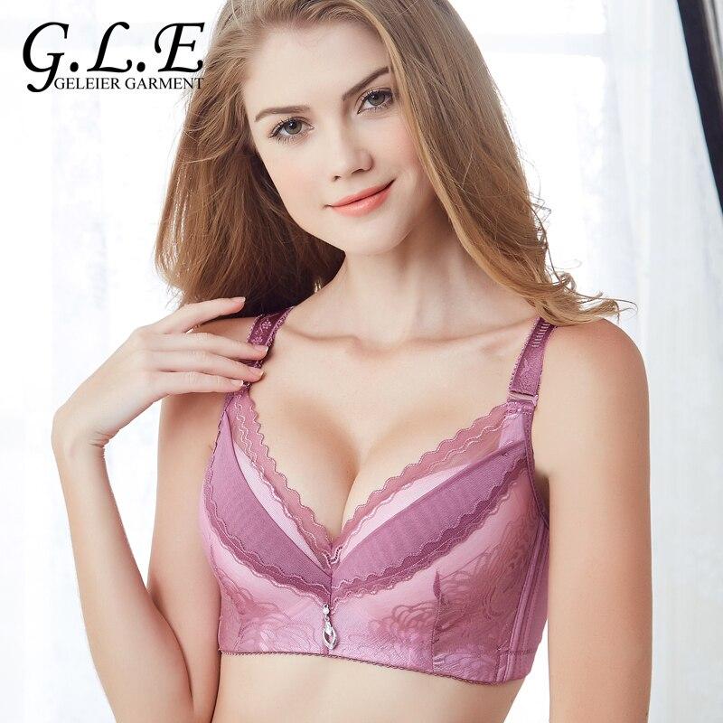 12faf8d867c5a Detachable Shoulder Belt Thin Mold Cup Bras for Women Large Size Push up Bra  C