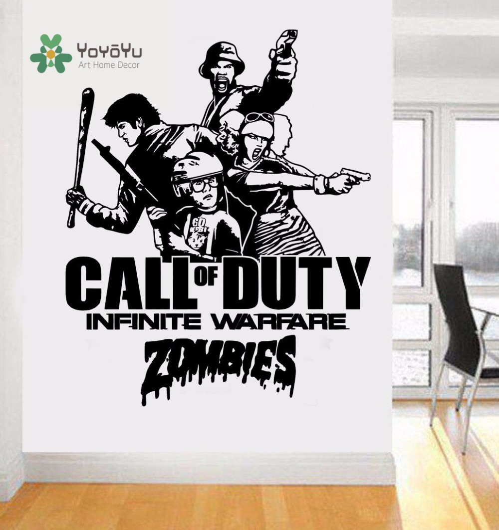 YOYOYU ART HOME DECAL Call of Duty Infinite Warfare Zombie Style Carving Sticker Boys PS4 XBOX Vinyl Wall Decoratin Y014