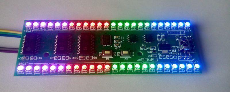 Двухканальный индикатор уровня УФ, 5 В, RGB, с дисплеем MCU, 24 светодиодный