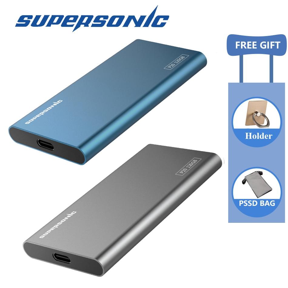 Supersonique P20 Portable Lecteur à État Solide 128 GB 256 GB 512 GB 1 TB 2 TB Typc-C USB3.0 externe SSD pour Ordinateur Portable Android téléphone