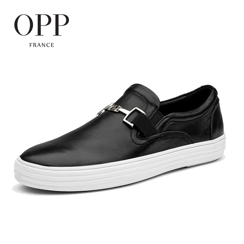 OPP 2017S ummer Mens Casual Footwear Young Flats Cow Leather Flats Men Shoes Genuine Leather Loafers For Men Shoes moccasins cbjsho brand men shoes 2017 new genuine leather moccasins comfortable men loafers luxury men s flats men casual shoes