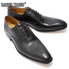 Luxury Men Genuine Leather Dress Shoes High Quality Italian Design Black  Hand-made Work Shoe Pointed Toe Wedding Shoes Male italian shoe with matching bag new arrival design matching italian shoe and bag set with stones high quality woman shoes ja10 4