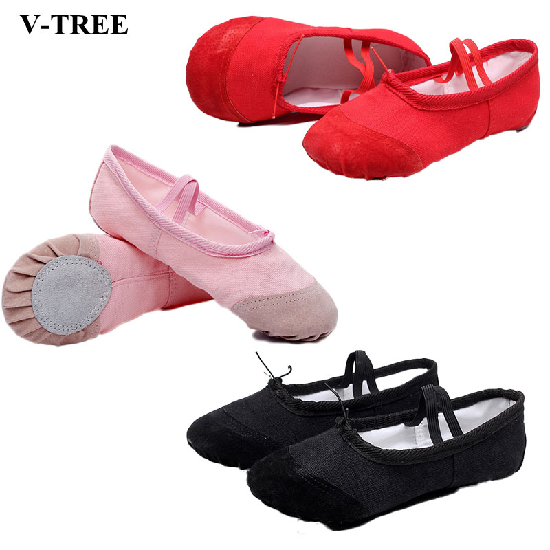 Soft Children Shoes Canvas Ballet Shoes For Children Girls Boys Slippers Kids Shoes Dancing Slippers Women Light Flat Shoes
