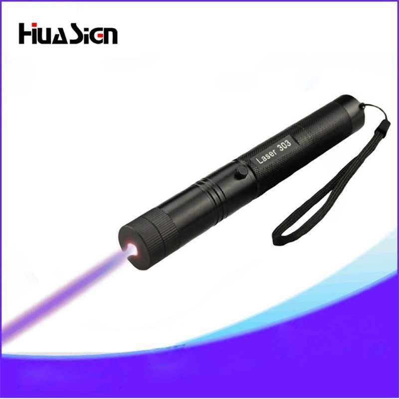 אור באיכות גבוהה 303 לייזר סגול 405nm לייזר עט עבור מגיש נקודת כוכב אסטרונומים 18650 סוללה + 18650 מטען + 2 מפתח בטוח