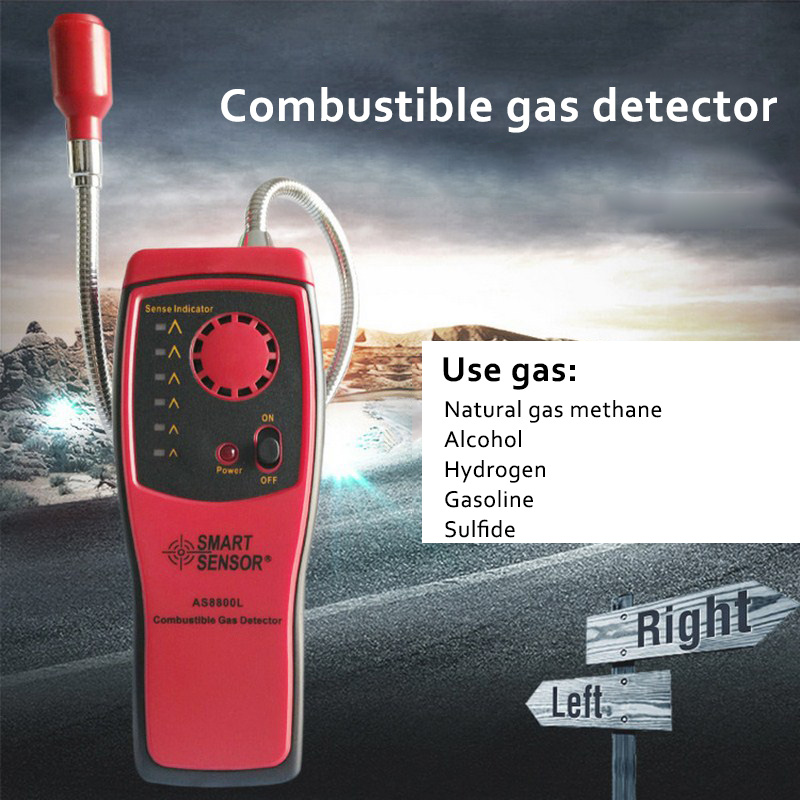 Natural Combustible Gas Analyzer Carbon Monoxide Methane Alcohol Gas Detector Automotive Flammable Gas Leak Detector Tester dy8800a combustible gas leak detector gas tester