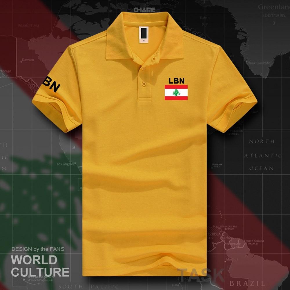 Lebanese Republic Lebanon   polo   shirts men short sleeve white brands printed for country 2017 cotton nation team flag LBN Arabic