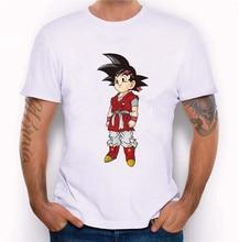 2017 Newest Men Dragon Balls Character Design T shirt Novelty Goku Tops Custom Printed Short Sleeve Tees