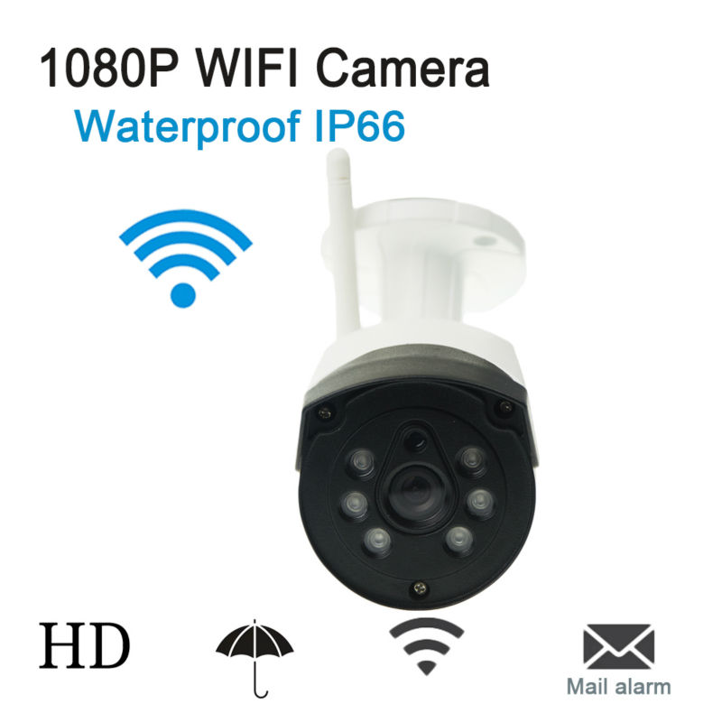 ФОТО 1080P WIFI Outdoor IP Camera P2P Wireless Waterproof  IP Camera IR-Cut Security Camera Night Vision Support Micro SD Card