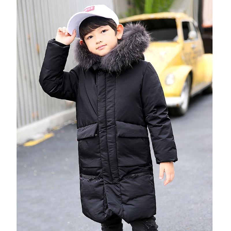 7486f0c7e204 Kids Boys Winter Coat 2018 Down Jackets for Toddler Boy 6 8 10 12 14 ...