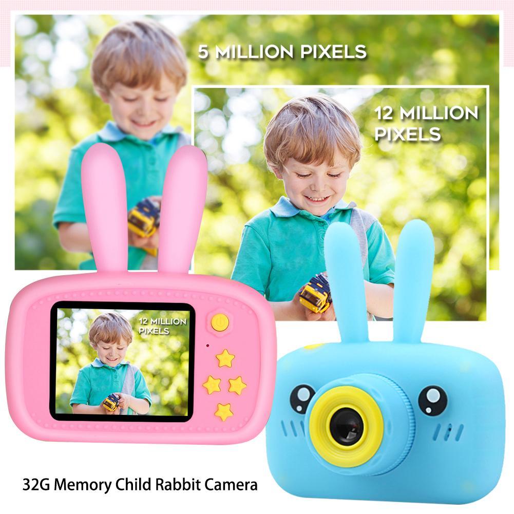 32G Mini caméra numérique 800 W dessin animé mignon lapin caméra jouets enfants cadeau d'anniversaire 1080 P bambin jouets caméra pour enfants - 5