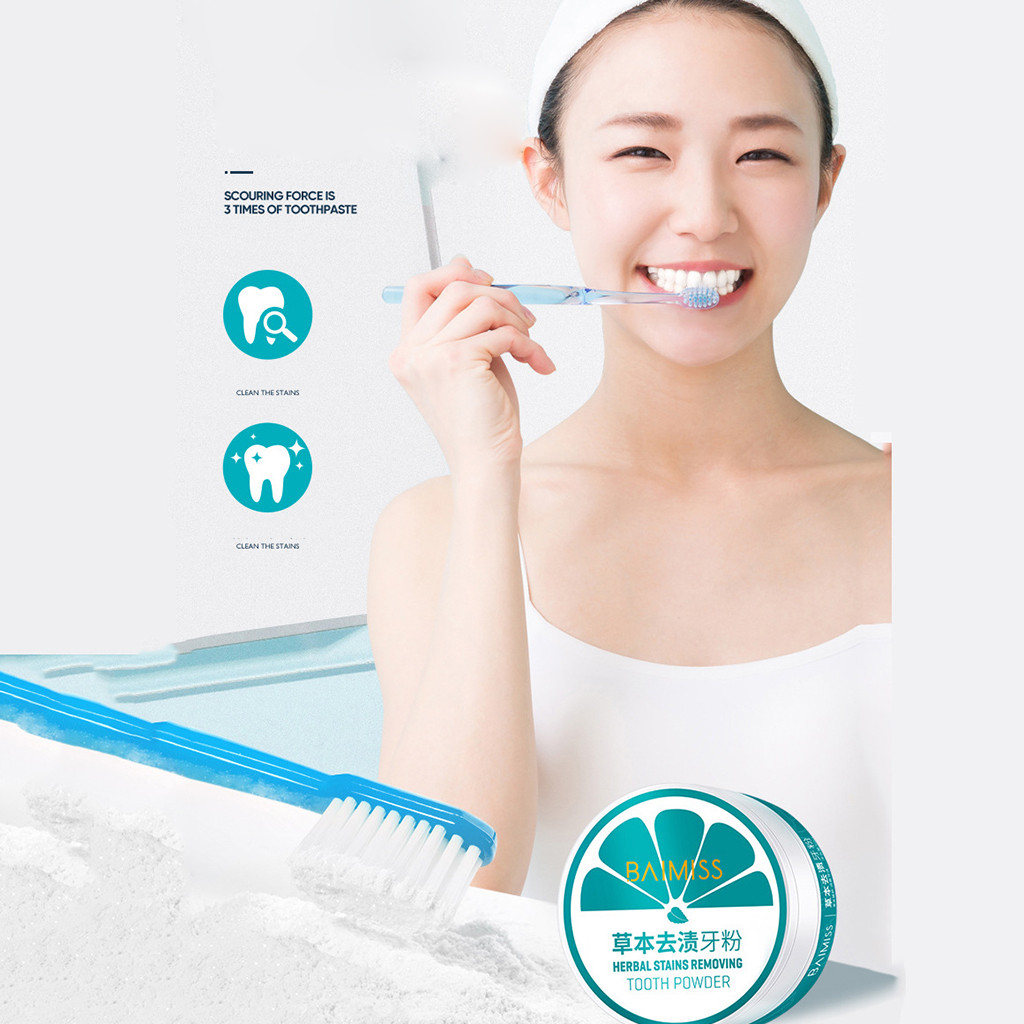 Tooth Care Natural Stain Removal Whitening Stain Removal Toothpaste Fight  Tooth  Powder  Y711(China)