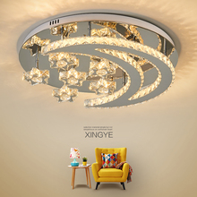 Modern LED Ceiling Chandeliers Crystal decoration Stainless Steel Chandelier lighting for living room installation