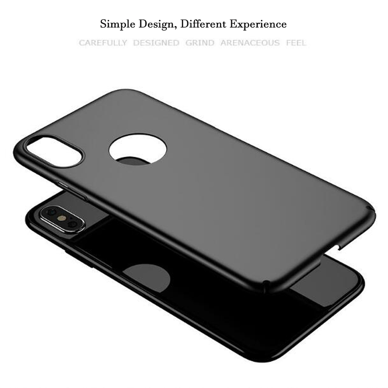 Phone Case For iPhone X 10 Case Ultra Thin Slim Frosted PC Protection Phone Case For Apple iPhone X 10 Back Protective Cover in Fitted Cases from Cellphones Telecommunications