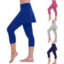 Pantalones Cargo Para Mujer, женская повседневная юбка, леггинсы, брюки для тенниса, спорта, фитнеса, укороченные кюлоты, брюки-кюлоты