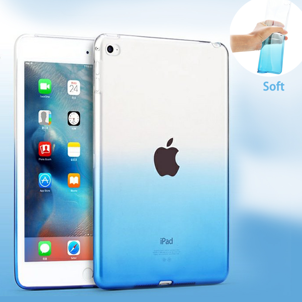 Transparent Case For iPad air 1 Case Silicon Protection Fashion TPU Case For apple ipad 5/ipad air Case soft plastic Clear Cover crystal plastic protective back case for iphone 5 transparent blue