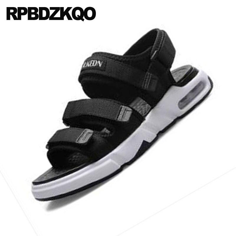 Sandalias Plataforma Zapatillas Famosa Zapatos Marca Aire Romano Hombre Gladiador Impermeable Al Libre Blanco Malla Correa Deporte Verano 2018 Runway Negro BqP61P