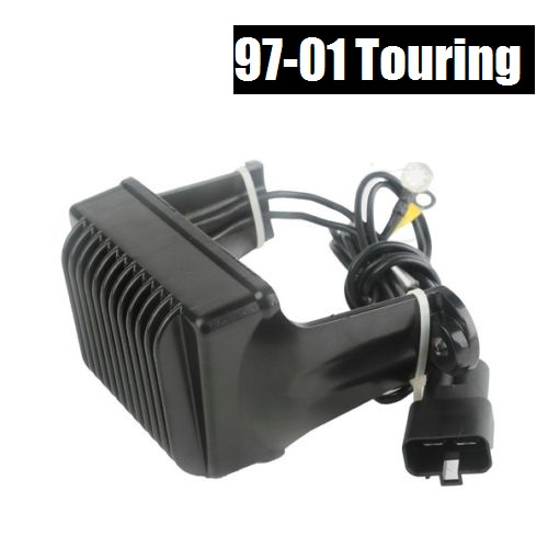 Motorcycle Black Voltage Rectifier Regulator for Harley Touring 97-01 Replace 7450597 brand new motorcycle voltage regulator rectifier for yfm550 grizzly 2011 2012