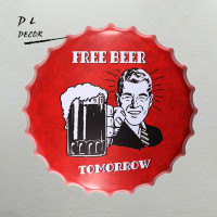 DL-Gratis Bier Morgen Bar Fles Caps Metal Wall Art Antieke Oude Plaat Store Pub Schilderen Decor