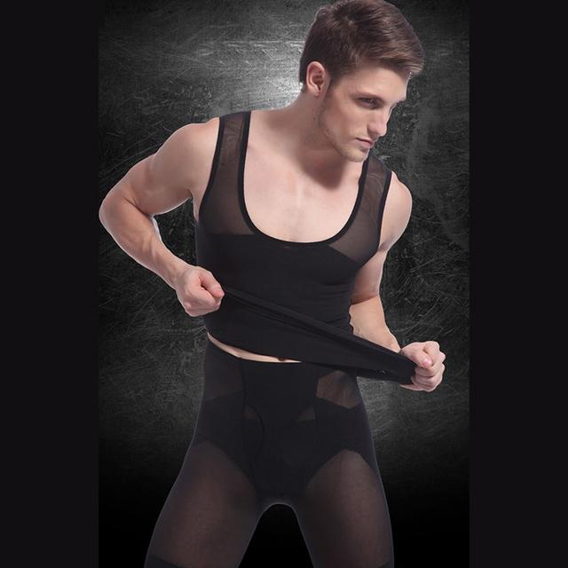 2017 Detonação Dos Homens Sensuais Espartilhos Shapewear Emagrecimento Abdômen Vest Sculpting Compressão Cinturão Barriga para Homens Presentes de Ano Novo