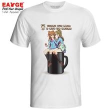 Kanade x Hibiki Sit On Your Cup T Shirt Blood Plus Anime Manga Punk Style Active T-shirt Novelty Cool Unisex Tee