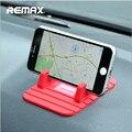 Mais novo original remax colorido suave borracha de silicone anti slip mat titular do gps do carro suporte de mesa suporte para iphone & android
