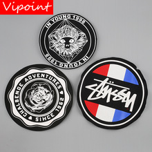 VIPOINT embroidery printed warning patches letter alphabet badges applique for clothing YM-38