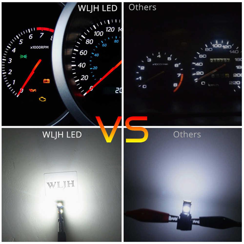 WLJH 6x Canbus T5 LED مصباح 73 74 3030 SMD لمبة لوحة أداة أضواء لسوبارو BRZ ليجاسي تريبيكا Outback Forester Impreza