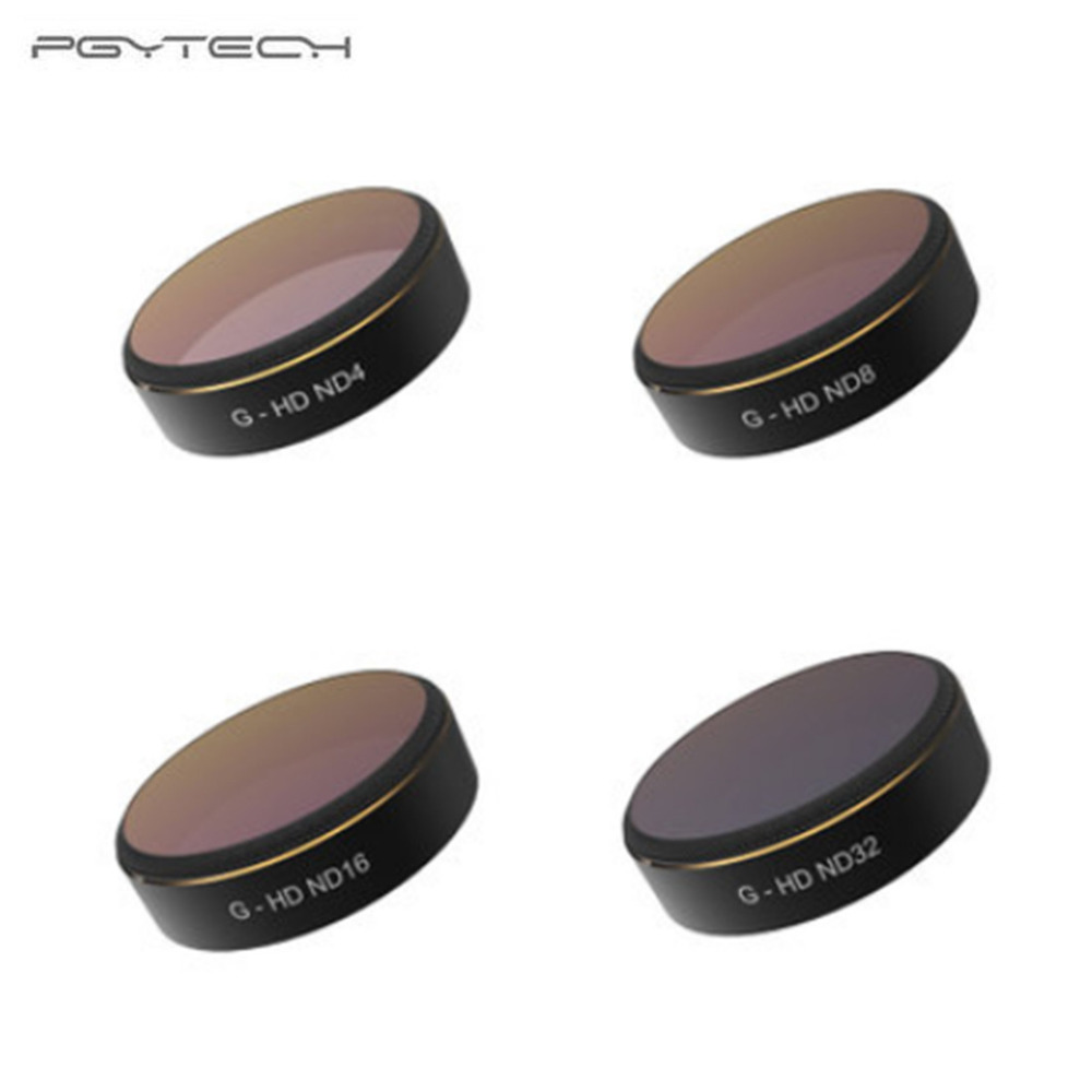 PGYTECH For  DJI phantom 4 Pro Accessories Lens Filters ND4 8 16 32 gradual HD Filter Drone gimbal RC Quadcopter parts Set gs43vr 7re phantom pro 201ru