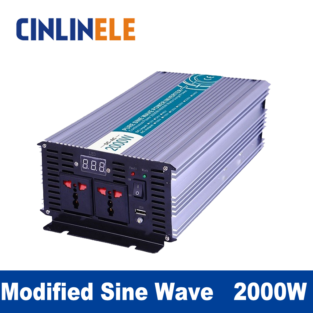 Modified Sine Wave Inverter 2000W CLM2000 DC 12V 24V 48Vto AC 110V 220V 2000W Surge Power 4000W Power Inverter газонокосилка электрическая prorab clm 1800