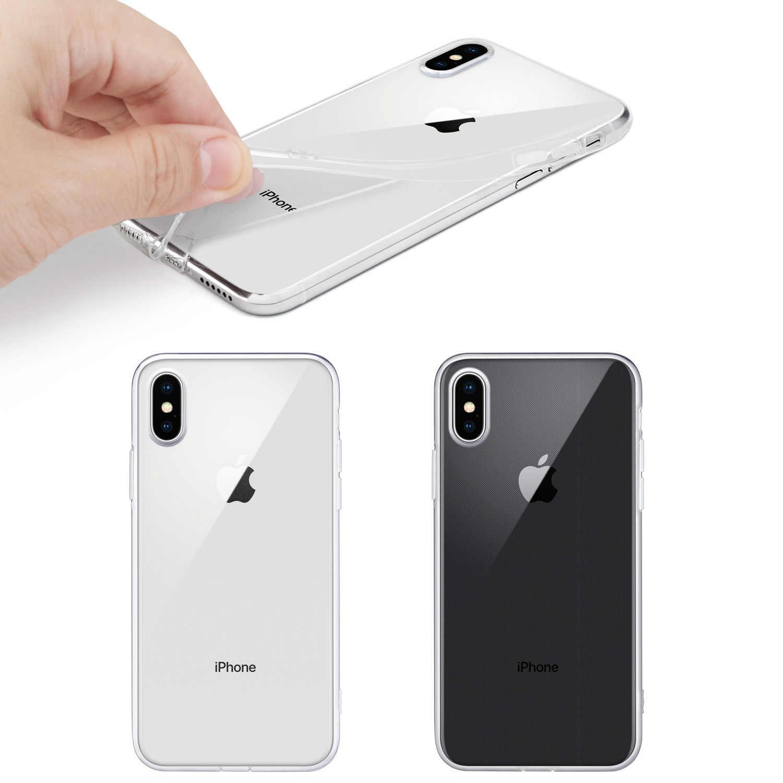 """Iphone × ケース、 wefor スリムクリアソフト tpu カバーサポートワイヤレス充電アップル 5.8 """"iphone x/iphone 10 (2017 リリース)"""