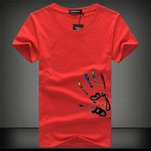 0b76d7123ad2d25 Горячие Для мужчин s футболки модные летние О-образным вырезом Slim Fit  короткий рукав Футболка