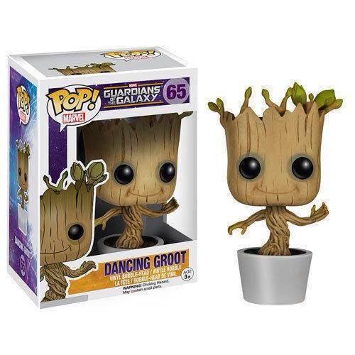 J Ghee Genuine Brand Funko POP Guardians Of The Galaxy Toy Figure DANCING GROOT Bobble Head/Marvel Groot 10CM new funko pop guardians of the galaxy tree people groot