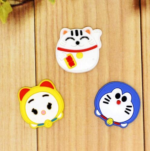 10 pcs cartoon mix cat luck PVC Silica gel Patch Jewelry Accessories DIY Handmade Hairpin Jewelry Decoration T-57
